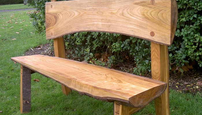 Bespoke wooden cherry bench