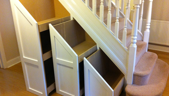 Bespoke under stairs storage solution
