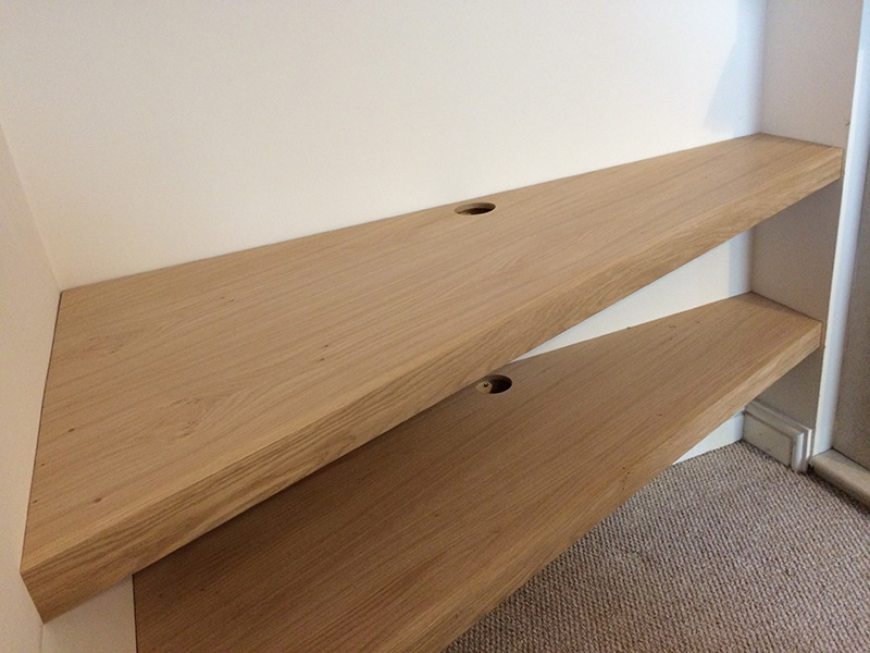 Builtin Furniture Designed And Made By Sam Wiltshire Delectable Oak Veneer Floating Shelves