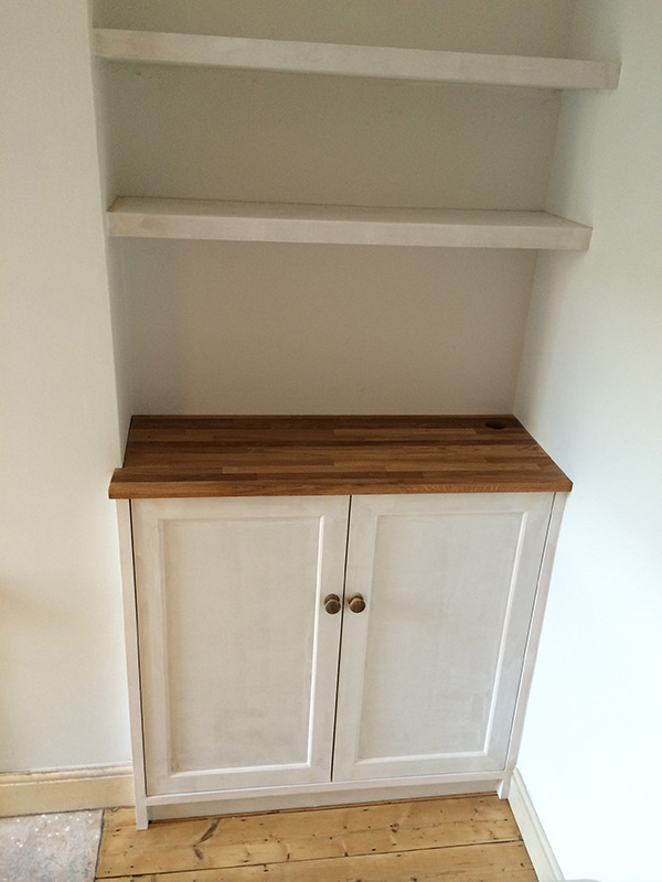 Built-in furniture designed and made by Sam Wiltshire