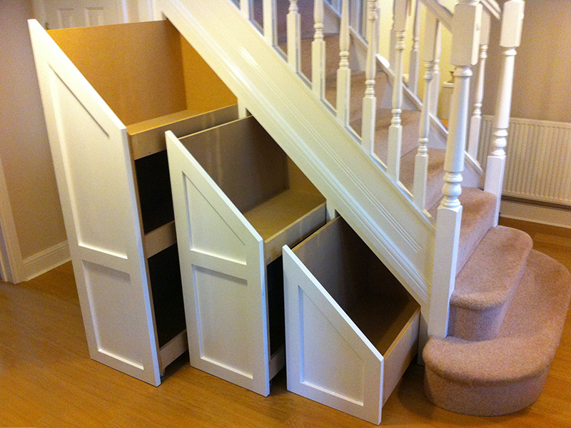attic storage shelves ideas - Built in furniture designed and made by Sam Wiltshire